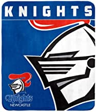 NRL Knights Throw Rug, one Size, Blue/White, 1, Piece