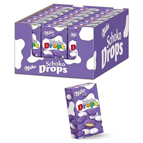 Milka Schoko Drops 21 x 42g, Schokolinsen mit Alpenmilchschokolade und Milchcrème