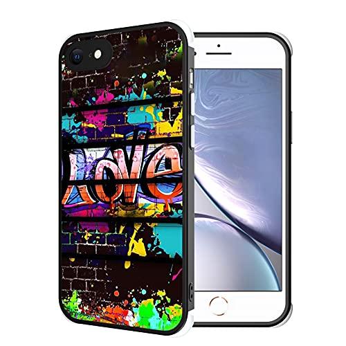 Compatible with iPhone 6s Plus/6 Plus Case Watercolor Paints Graffiti Love Luxury Design, [Shock-Absorbing Corners] [Scratch Resistant] [Lens Protective] Hard PC + Flexible TPU Frame Slim Phone Case