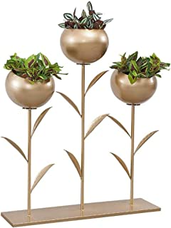 Plant Racks Gold Flower Stand Metal Interior Balcon Living Room Plant Stand Exterior Decoration, 75 20 90 cm