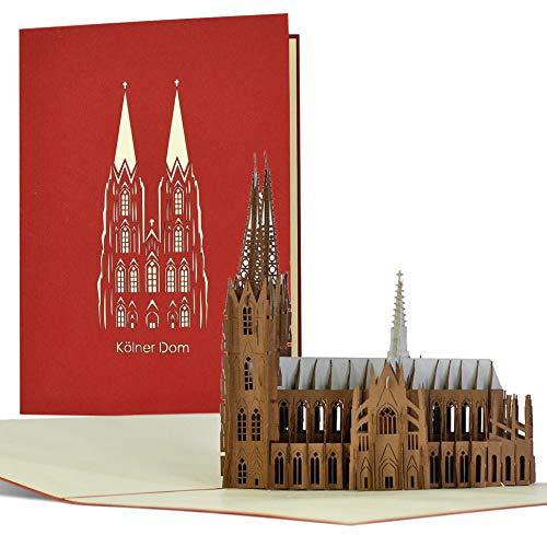 Gutschein für Reise I Wochenende in Köln, 3D Pop-up Karte Kölner Dom, Reisegutschein für Ausflug nach Köln, Geschenk, Geschenkideen, Städtereise, A113