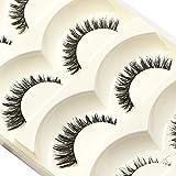 Bluelans 5 Pairs Natural Look Fake Eye Lashes False Eyelashes Extension Makeup