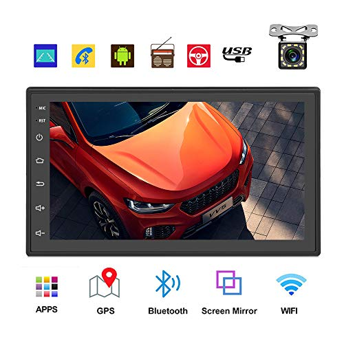 Podofo Double Din Car Radio GPS Navigation Android Car Stereo 7 Inch HD Touch Screen Car MP5 Player...
