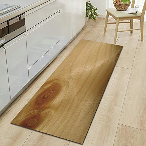 OPLJ Alfombra de Grano de Madera de adoquines 3D, Felpudo de Entrada, Alfombra para el Piso del Pasillo del Dormitorio, Alfombra Antideslizante de absorción de Agua para baño A23 40x120cm