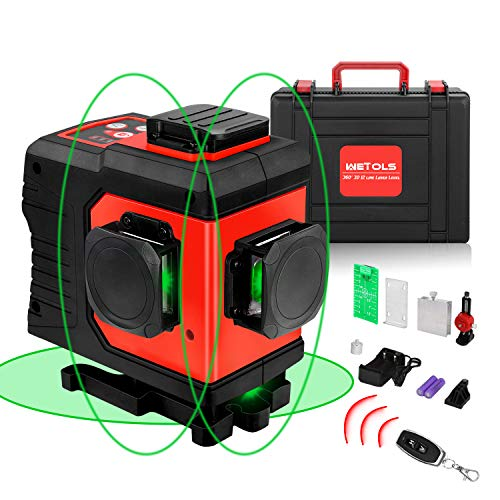 Horizontal and Vertical Lines Laser Level Laser Class II 2 x AAA Batteries Included SORAKO 33 Feet Self-Leveling Line Laser