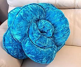 Cojín de lujo de color azul zafiro