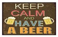 Amxxy 落ち着いてビールを飲む面白い古いパブとバーブラウンコーラルソフトクッション滑り止め玄関マットバスラグクリエイティブデザイン素敵な家の装飾屋内と屋外の玄関マットバスルームマット15.7x23.6in