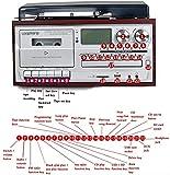 SXLCKJ Tocadiscos, gramófono, Reproductor de Discos de Vinilo Bluetooth Tocadiscos CD Cassette Radio Am/FM y Entrada Auxiliar con USB por (Tocadiscos)