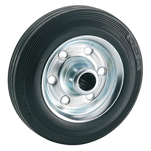 Dörner + Helmer 710172Completo de goma rueda 125x 37x 15mm, con cojinetes de rodillo Buje ancho 44mm