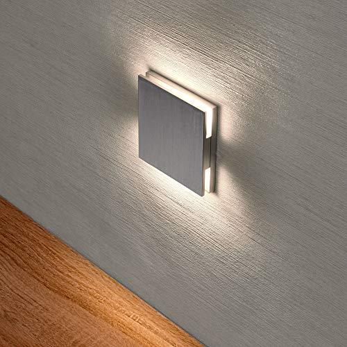 LED Treppenbeleuchtung Treppenleuchte 2,5 Watt warmweiß Wandeinbauleuchte Wandspot Nachtlicht Flurleuchte Lampe Wandleuchte F45 2W