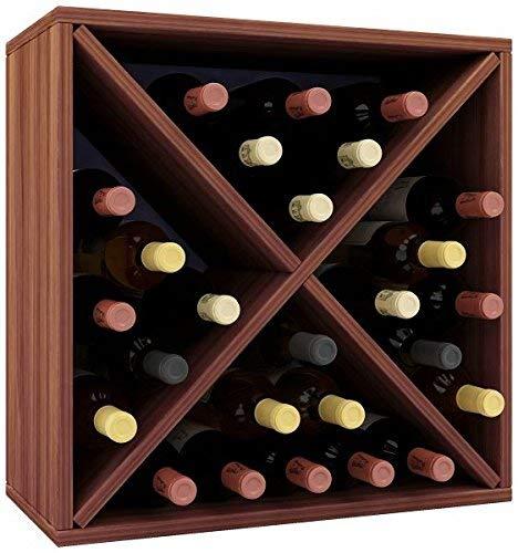 VCM Weino III Weinregal Serie/Weinschrank Regal/Standschrank, Holzdekor, Kern-nussbaum, 52 x 52 x 25 cm