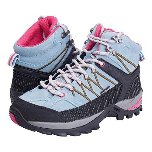 CMP Wanderschuhe Damen Outdoor Schuhe Trekkingsschuhe wasserdicht leicht und bequem mit Dicker Sohle in vielen Farben Ragel, Größe:38, Farbe:Anice-Tortora-Black-high