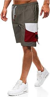 Shorts for Men, F_Gotal Men's Colorblock Casual Drawstring Elastic Waist Big&Tall Sports Pants Jogger Shorts Sweatpants