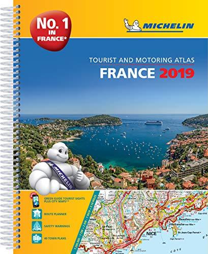 France 2019 -A4 Tourist & Motoring Atlas (Michelin Road Atlases)
