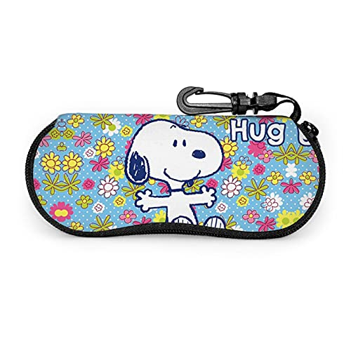 Snoopy - Funda para gafas de sol con mosquetón para hombre y mujer