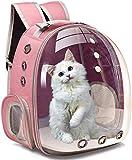 Mochila portadora para perros y gatos, mochila frontal para perros pequeños, medianos y pequeños, cachorros, bolsa de transporte para el cuerpo del perro, cápsula de viaje, espacio de viaje, rosa