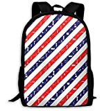 XCNGG Sac à Dos d'impression Plein Cadre Adulte Sac à Dos décontracté Sac à Dos Cartable Travel Backpack Laptop Backpack Large Diaper Bag - Barbershop Equipment Flag Backpack School Backpack f