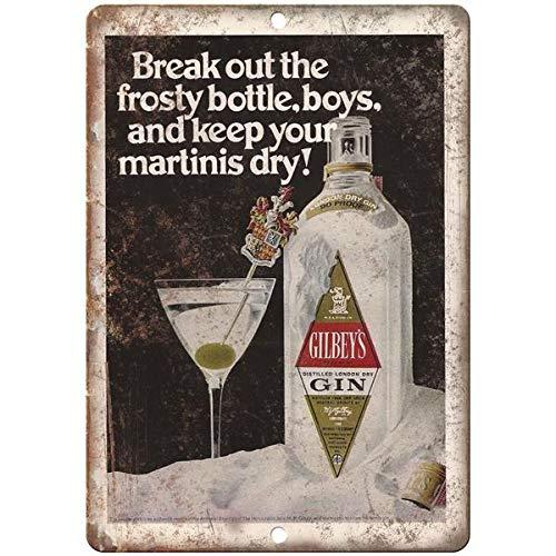 VEHFA Gilbey's Gin Vintage Liquor Ad Reproduction Metal Sign E