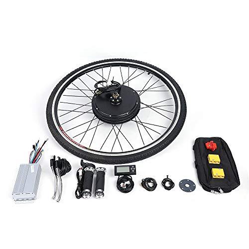 DIFU Ebike Nachrüstsatz E-Bike Umbausatz Kit 28 Zoll 36V 500W Fahrrad Vorderrad Conversion Set mit LCD Display