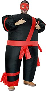 Inflatable Costumes Adult,Halloween Funny Japanese Samurai Wrestler Wrestling Suits Blow up Cosplay Costume