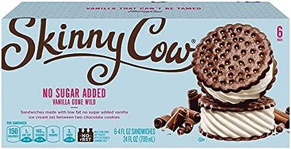 Skinny Cow, No Sugar Added Vanilla Gone Wild Low Fat Ice Cream Sandwich, 4 Fl Oz , 6 Count (Frozen)