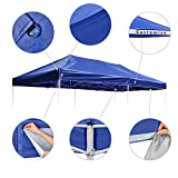 Instahibit 10x20ft Pop Up Top Replacement Instant Canopy Patio Pavilion Gazebo Sunshade Tent Oxford Cover Outdoor Navy