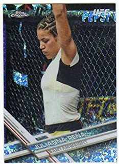 2017 Topps Chrome UFC Diamond Refractor Parallel #51 Julianna Pena