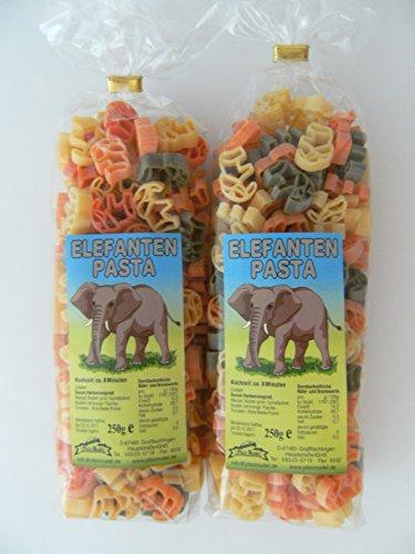 Pfalznudel Streuteile Elefanten aus Nudelteig, 2X 250 g, Nudeln, Pasta, Dekoration, Delikatesse, Tiere