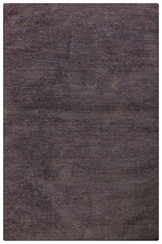 Morgenland Uni Kurzflor Teppich Schwarz Handgemacht Kurzflor Flachgewebe 180 x 120 cm