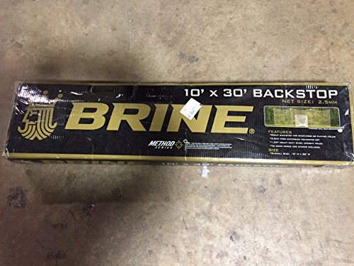 Brine Lacrosse Backstop 1.25-Inch Frame, 2.5-mm Hi-Extension White Net (10 x 30-Feet)