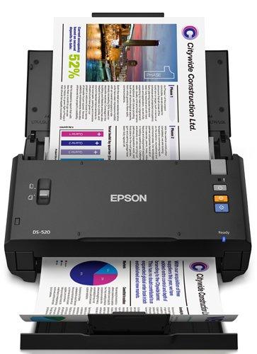 Epson WorkForce DS-520 Sheet-Fed Color Document Scanner for PC & MAC, Auto Document Feeder (ADF) & Duplex (B11B234201)
