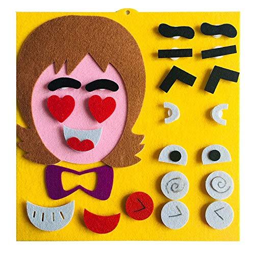 GlISR Niño de Juguete de Bricolaje Pegatinas de Kinder de Juguete Material de Embalaje Juguetes de los niños Expresiones faciales Montessori for niños Kits de artesanía (Color : 4)