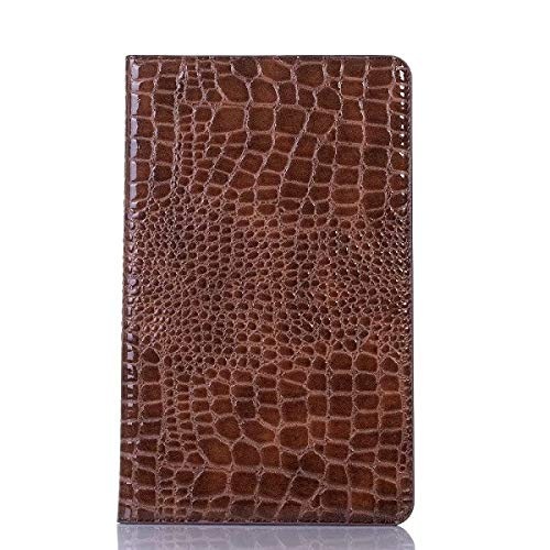 GHC PAD Cases & Covers For Samsung Galaxy Tab S3 9.7 T820 T825, Luxury Crocodile Luxury Case PU Leather Card Slot Case For Samsung T820 T825 (Color : Brown)