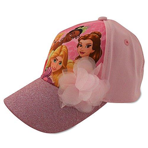 Disney Little Girls Princess Characters Cotton Baseball Cap, Princess Light Pink, Size Age 2-4