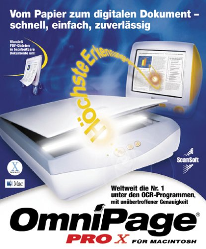 OmniPage Professional Texterkennungssoftware / vX / Mac / CD