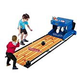 ADLIN Al aire libre juguetes educativos, niños de juguete de bolos Conjunto partido de los niños al aire libre juego de bolos cubierta Bolos juego con de 2 bolas y 10 regalos pernos divertidos for niñ