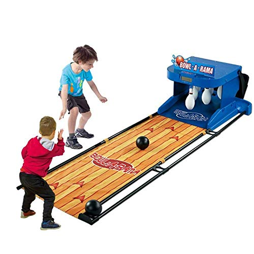 ADLIN Outdoor-Lernspielzeug, Kinder Bowling Set Indoor Skittles Spiel Kinder Bowling-Spiel Party im Freien Spielzeug mit 2 Bälle und 10 Pins Lustige Geschenke for Kinder Jungen Mädchen 3 4 5 Jahre alt