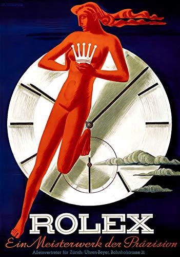 Swiss Beyer Zurich Rolex Advertisement 1942 - Stampa fotografica artistica su poster A4