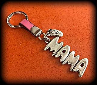 Llavero mama con pie/s personalizado/s. Regalo para madres - Navidad - Papa Noel - Reyes Magos