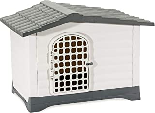 Pets Empire Waterproof Plastic Outdoor House Animal pet Dog Cages Carriers Houses Kennel Flooring Size : L X W X H 68.9 X ...