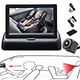 RYBPVC Baby Car Mirror, UPGRADED Baby Monitor with Infrared Night Vision for Rear Facing Seat Safely Car Seat Mirror with 360° Adjustable Fisheye Camera to Observe Infant/Toddler/Children