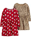 Carter's Baby Girls' 2-Pack Dress Set (18 Months, French Bulldog/Leopard)