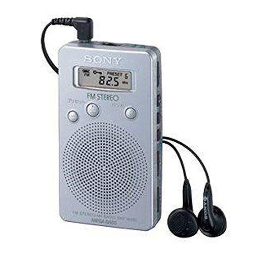 Sony SRFM807 - Radio portátil (AM/FM, estéreo, Mega Bass), plateado