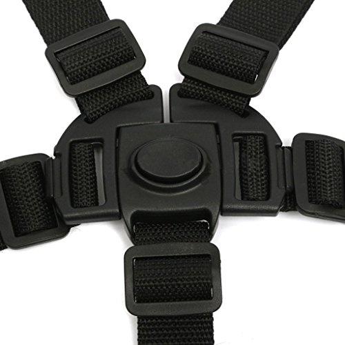 mi ji 5 Punti Bambino Sicuro Cintura Nera Per La Sedia Passeggini Buggy Carrozzina Cinghia Cablaggio