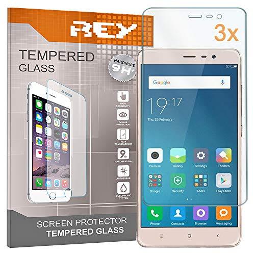 Pack 3X Pellicola salvaschermo per XIAOMI REDMI Note 3, Pellicole salvaschermo Vetro Temperato 9H+, di qualità Premium