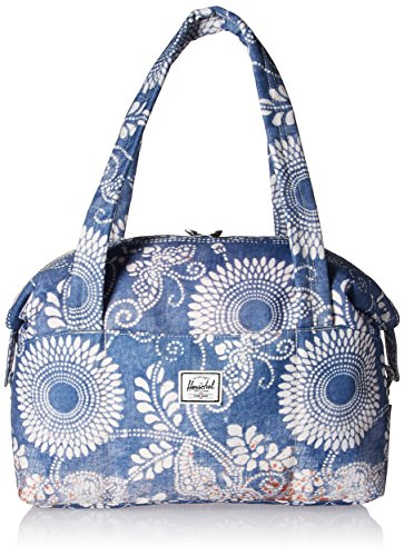 Herschel Strand Duffel Tasche, Bolsa de gimnasio Unisex, azul, blanco y marrón,...