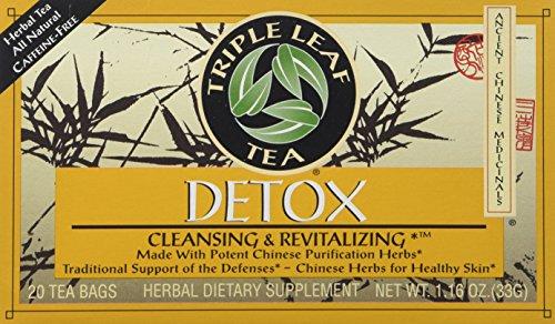 Triple Leaf Detox Tea - 20 bags per pack -- 6 packs per case.