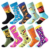 Men's Funny Dress Socks ,Fun Colorful Socks ,Crazy Novelty Funky Cool Cute Design Printed Crew Socks ,Casual Socks