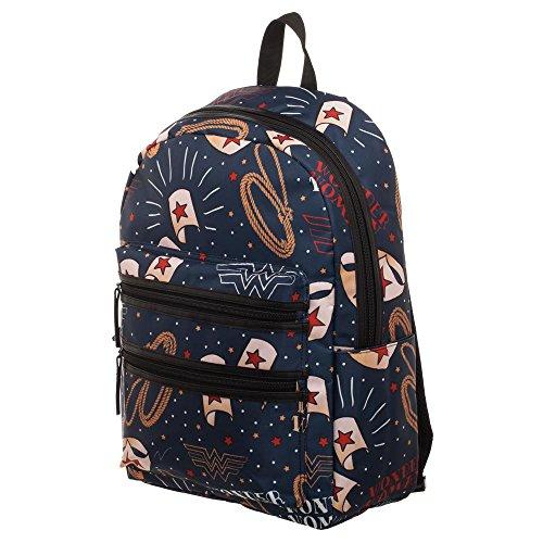 Bioworld Wonder Woman Backpack Symbols Borse
