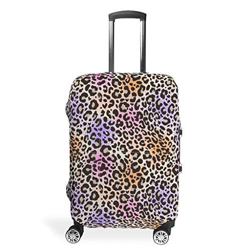 Knowikonwn Leopard Grain Travel koffer Protector - Hot Spandex 4 maten past Beschermende koffer